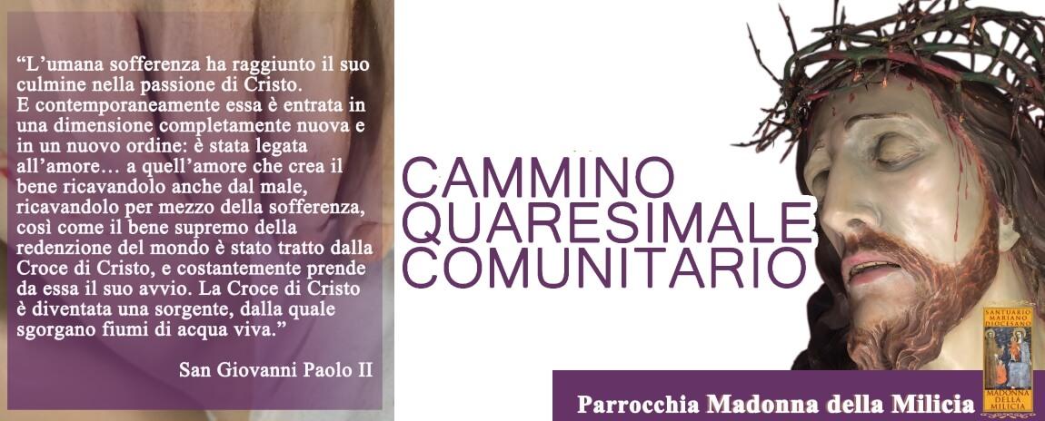 Programma Cammino Quaresimale Comunitario 2017